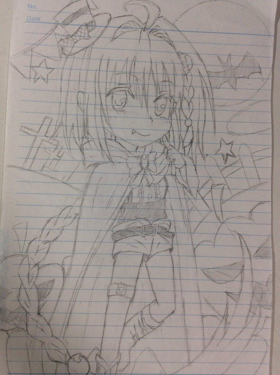 @0109_shiro: トラブルのメア(ハロウィンver.)これから細かく修正‥トラブルのキャラクターってなんか描きず