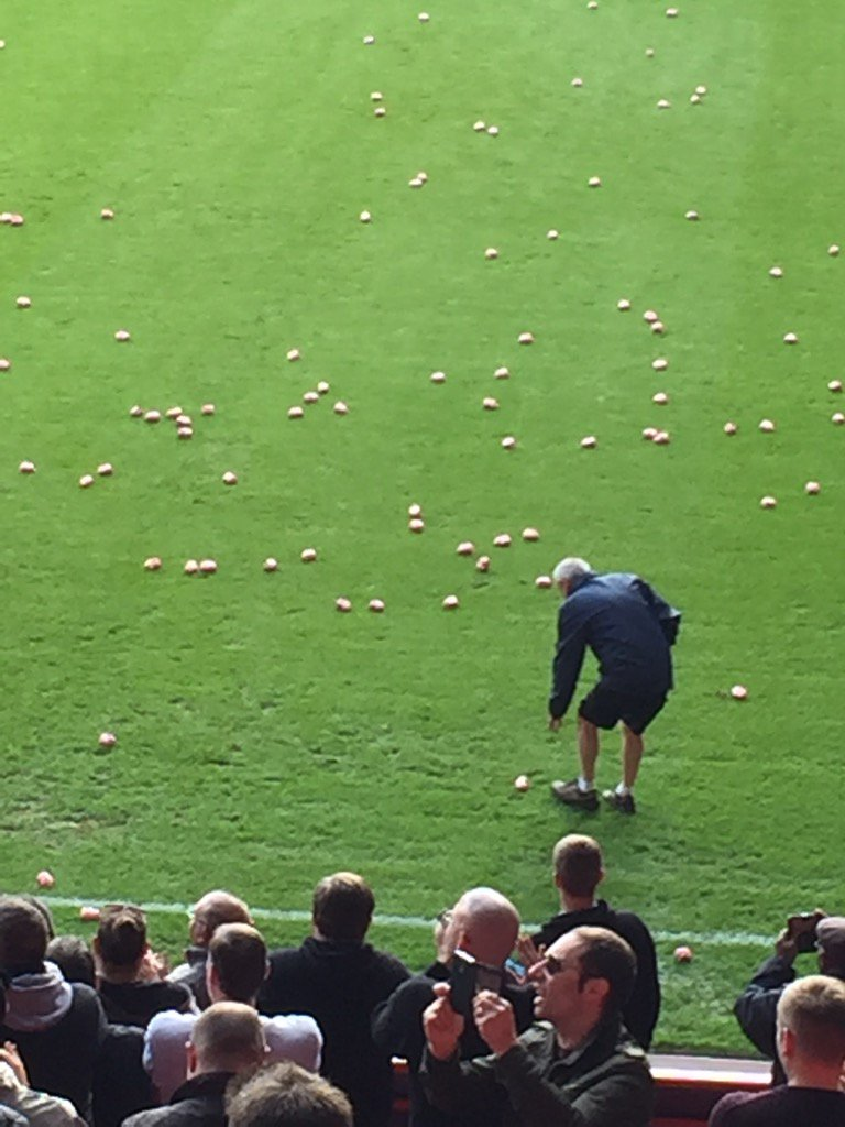 Pigs invade the pitch at the Valley #cafc #CCFC #WeWantOurCharltonBack https://t.co/guRoXpMeSD