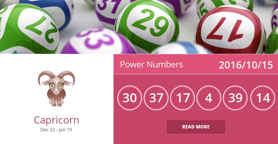 Oct 15, 2016: Power Numbers => See more: https://t.co/CiJVVW9C16 Accurate? Like = Yes #Capricorn #Horoscope https://t.co/r0y081A5Mz