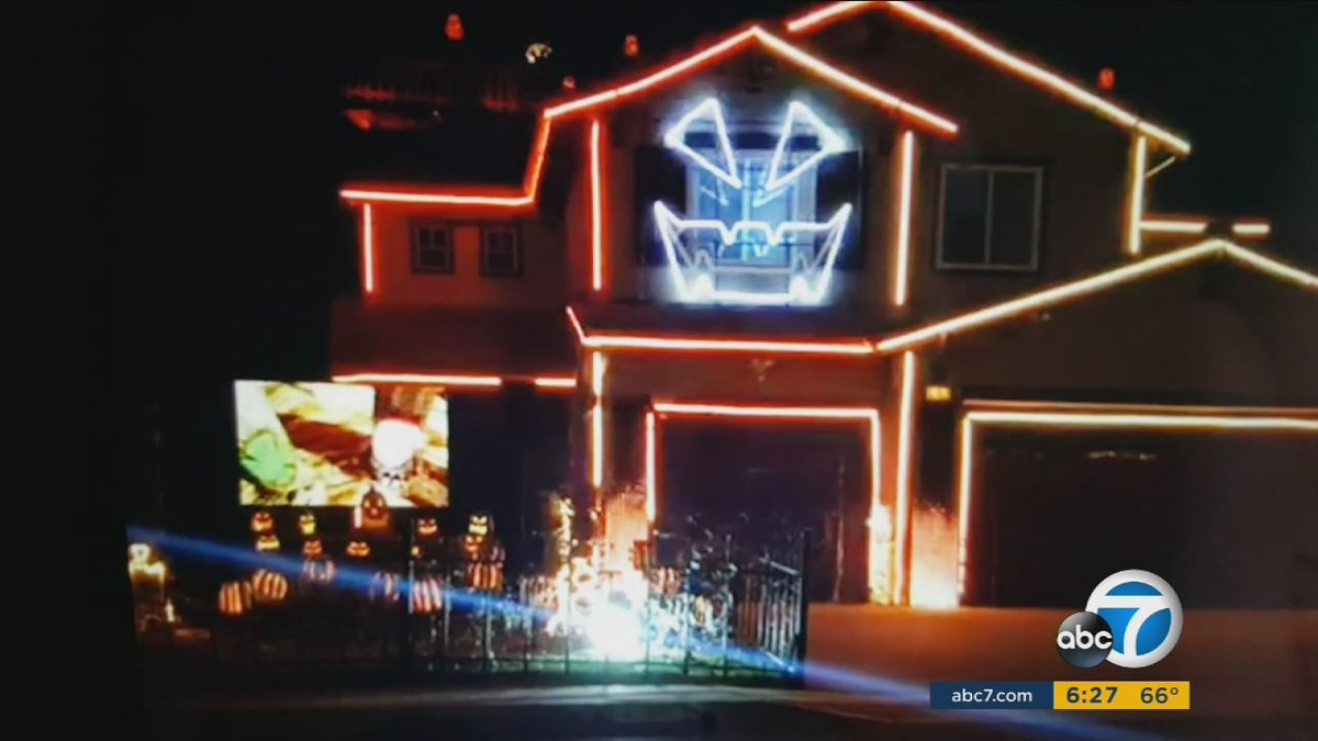 house in riverside hosts 8th year of halloween light display httpst