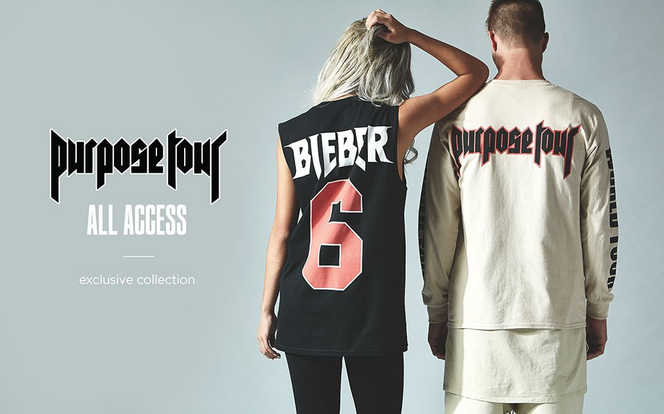 New collection of #PurposeTour merch available now at @pacsun