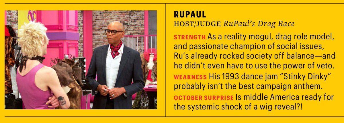 As for reality TV stars that would make a better president than Trump, @EW suggests @RuPaul. I couldn't agree more. https://t.co/XA3pKjqFND