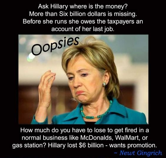 Cu1EG7FWcAQiUwP hillary lost $6 billion while secretary of state twittertrails