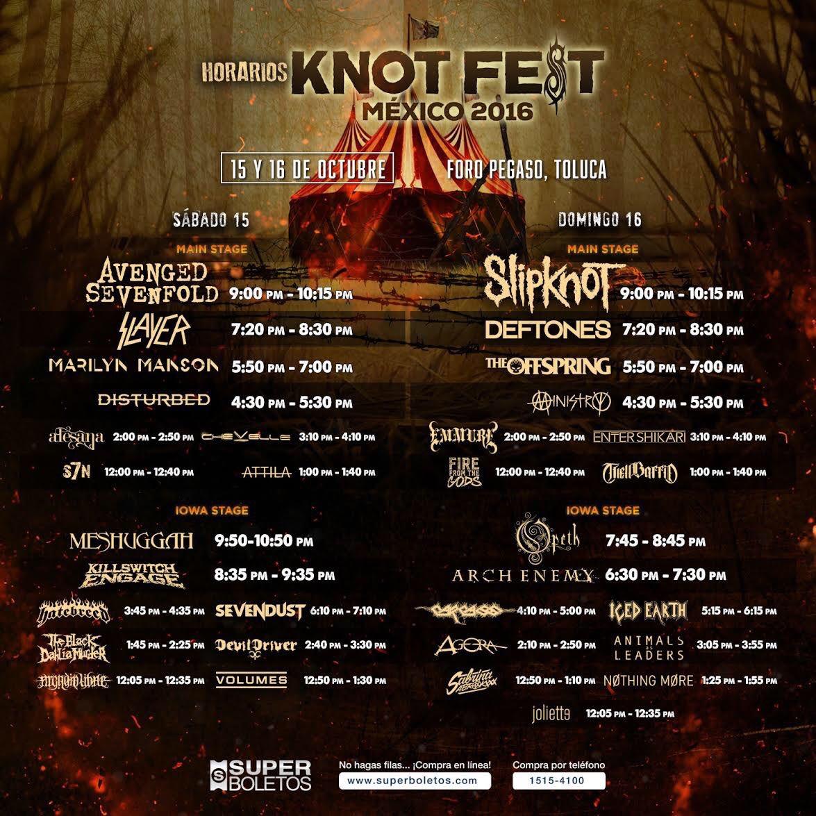 Mañana ! 12:30 del día Iowa stage Knotfest AWGQO3Y8UZ