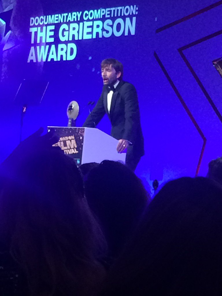 The wonderful #davidtennant announcing @griersontrust feature documentary award shortlist #LFF2016 https://t.co/IEaWILE112