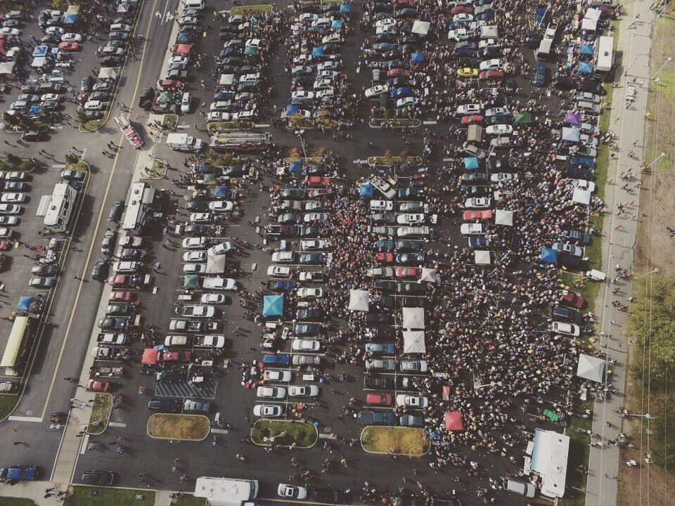 Ariel view today #uthomecoming #chaserstailgate https://t.co/NyScOPOfgk