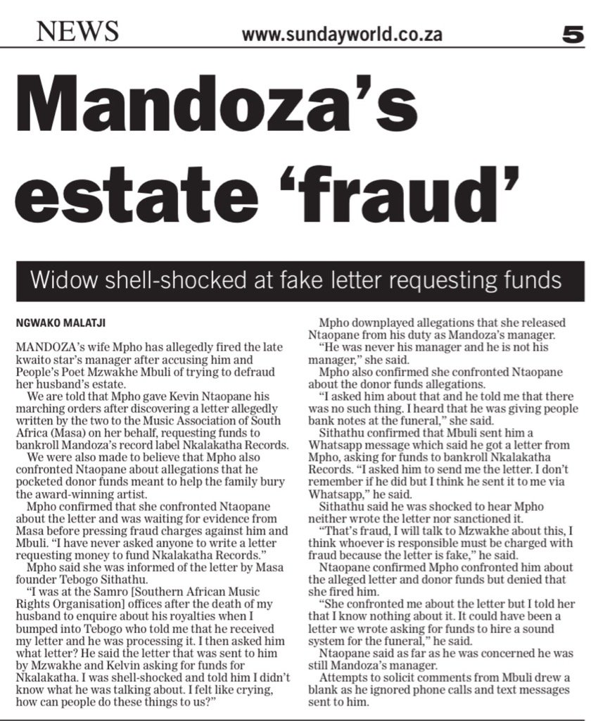 Mandoza' estate fraud https://t.co/3KQuiNdrIu