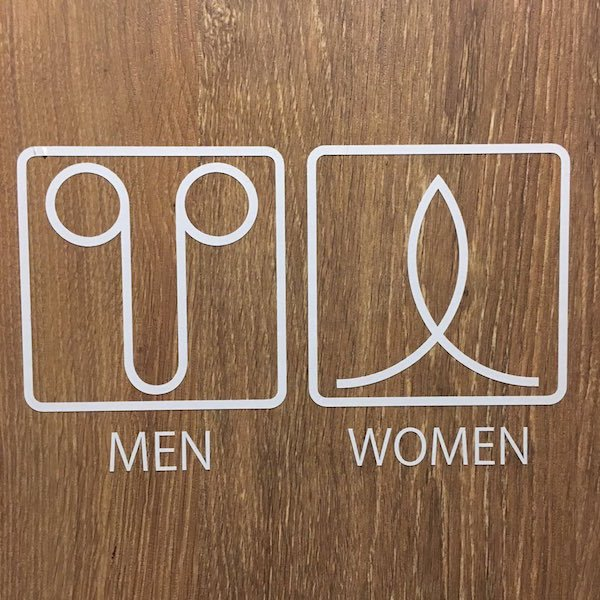 Bathroom Signs Japan in japan, minimalist bathroom signs that are hilariously explicit