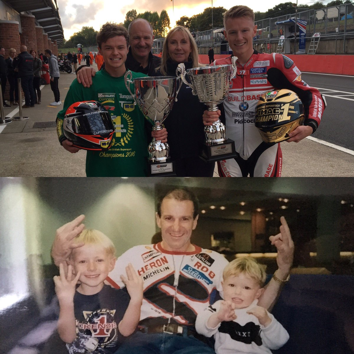 Twenty years on and there's now three champions in the Mackenzie household