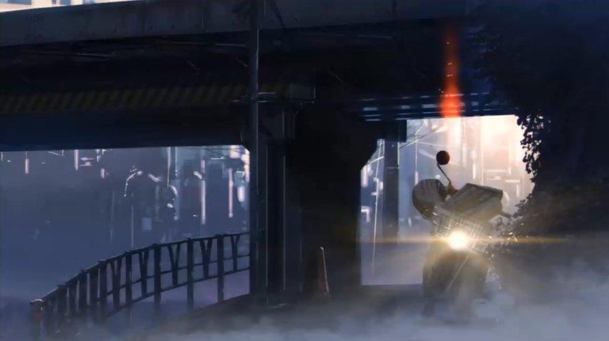 「秒速5センチメートル」観てたら出てきたこのシーンの場所(たぶん写真右側)、水木漫画の中で水木サンとアラマタ氏が歩いてい