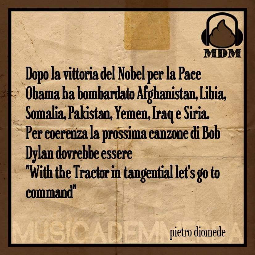 #NobelPrize #BobDylan #Rovazzi #andiamoacomandare #mdm  [@PDUmorista] https://t.co/InPZim3BgD
