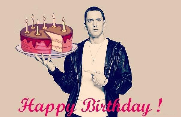 Happy Birthday Marshall Bruce Mathers III.... You\re still the best. You Are My Idol You Are The Greatest!!