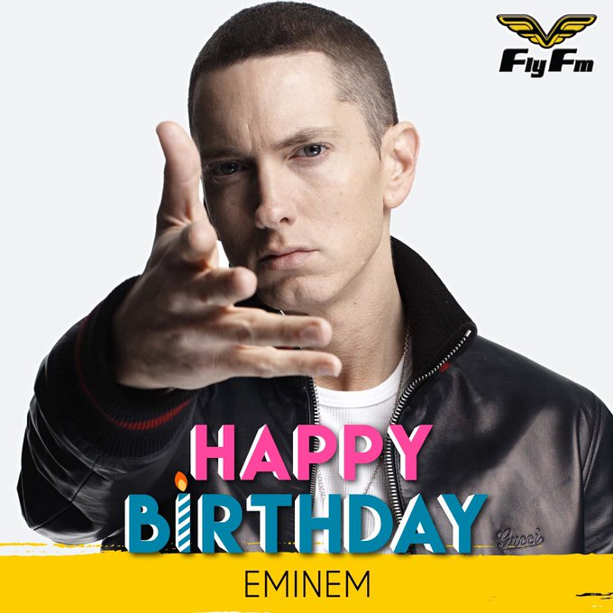 It\s time to celebrate the Real Slim Shady\s birthday! HAPPY 44th BIRTHDAY Eminem! What\s your favourite song??
