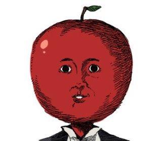 この美のりんごの擬人化好きだよ。うん。シュールで現実見せられるよね。#この美術部には問題がある#この美 #りんご