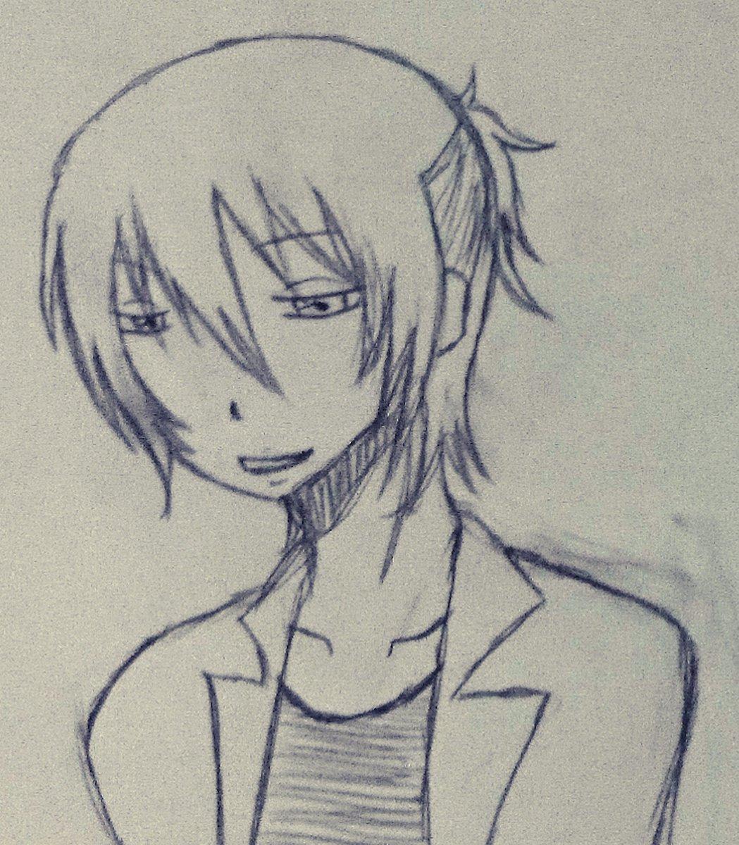 霧弥さん描いた_(ゝ「ε:)_オネェで奏さんがお気に入りな殺し屋さん。昼間はしのぶさんとこの高校の養護教諭。いつかのハロ