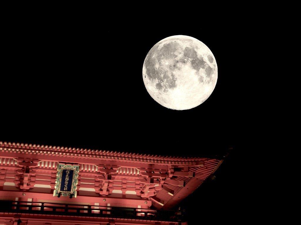 いなり、こんこん、満月夜。