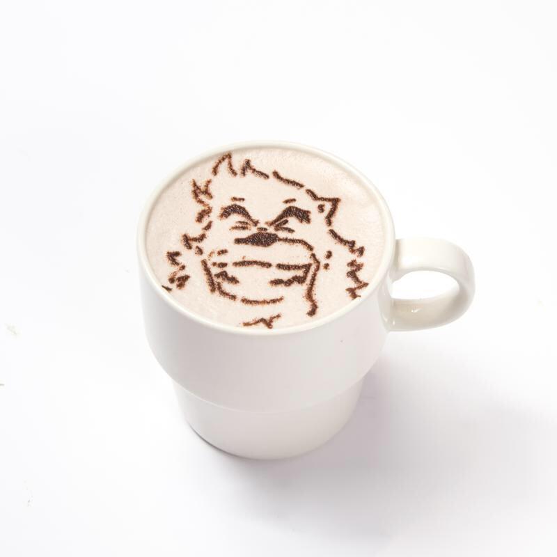#時かけカフェ #バケモノの子 【本日から❗】「熊徹の笑顔になれるホットココア』¥680が登場です❗️だんだん寒くなって