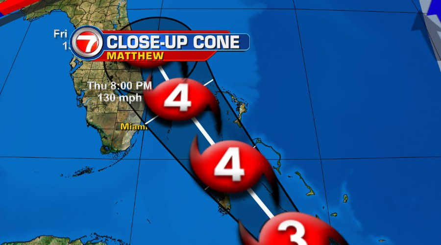 The latest cone as of 11 am. @wsvn https://t.co/Iryf6VG8Ri