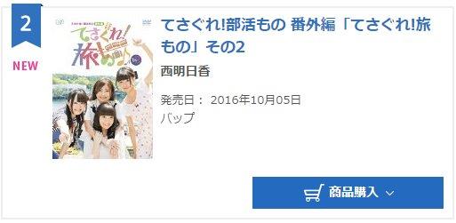 本日発表の10月04日付オリコンデイリーDVD総合ランキング、「てさぐれ!旅もの」その2が初登場第2位となりました!あり