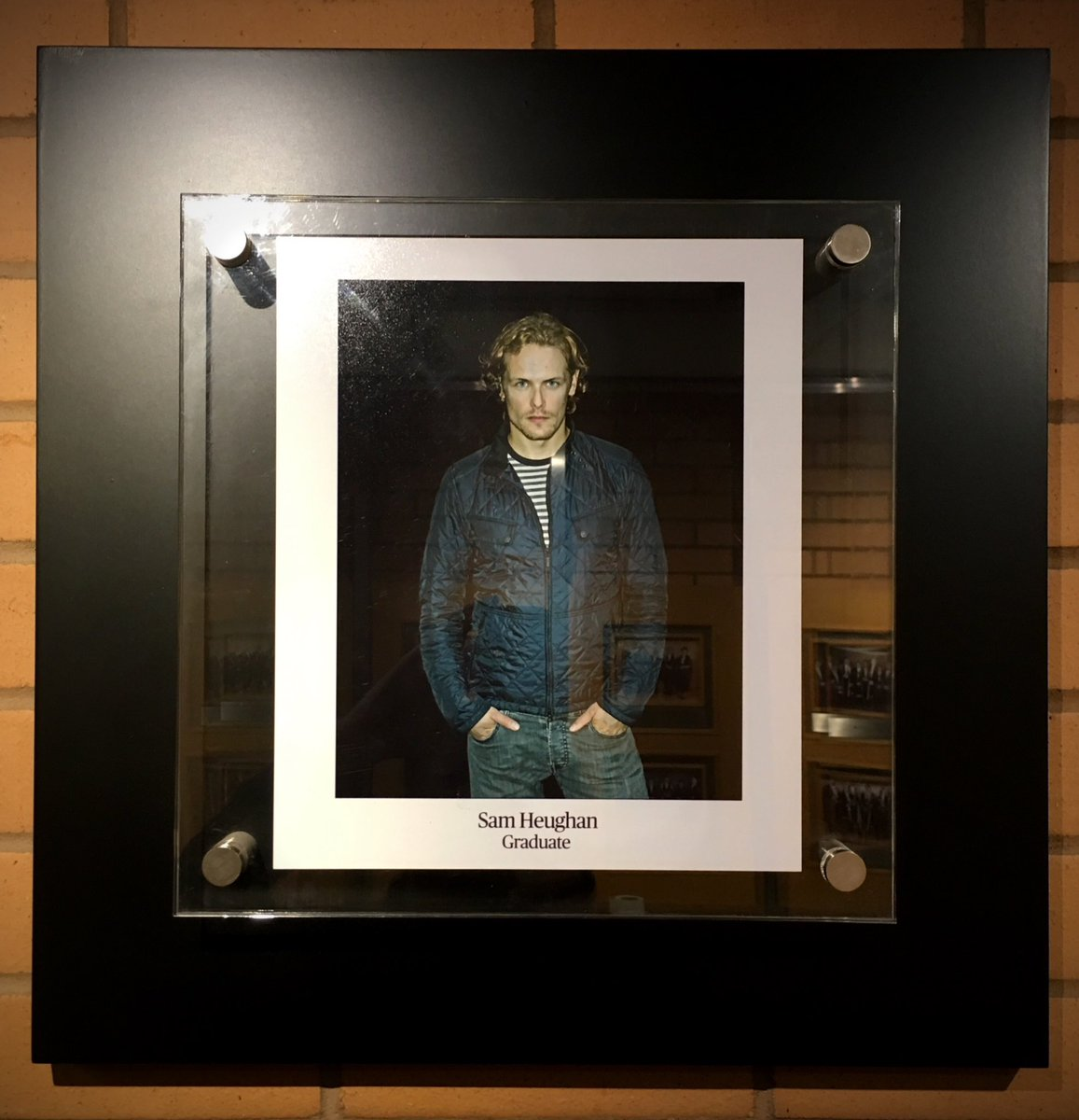 There's a new frame on our 'Wall of Fame', a fantastic portrait of #outlander star @SamHeughan