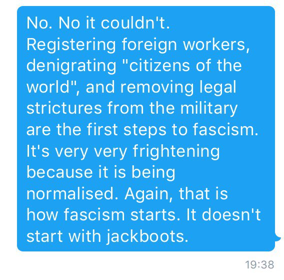 I shouldn't have to have this conversation. Brexit has prised open a Pandora's box of nightmares. https://t.co/9jh4Kmxa2f