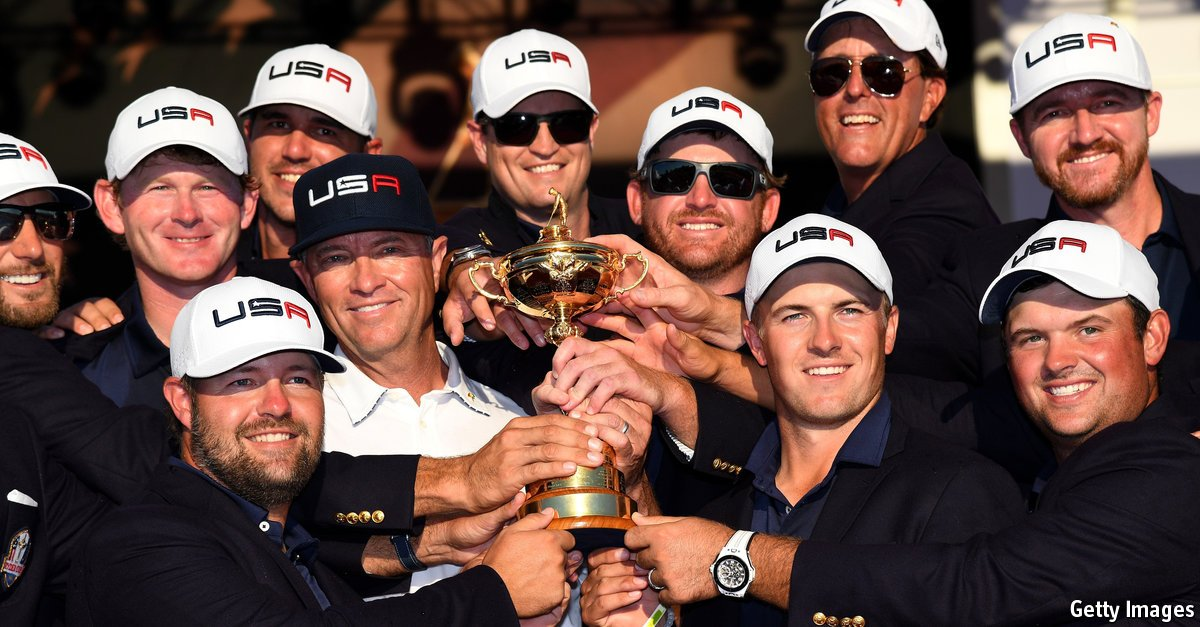 Team USA managed a thumping win in the highly unpredictable Ryder Cup