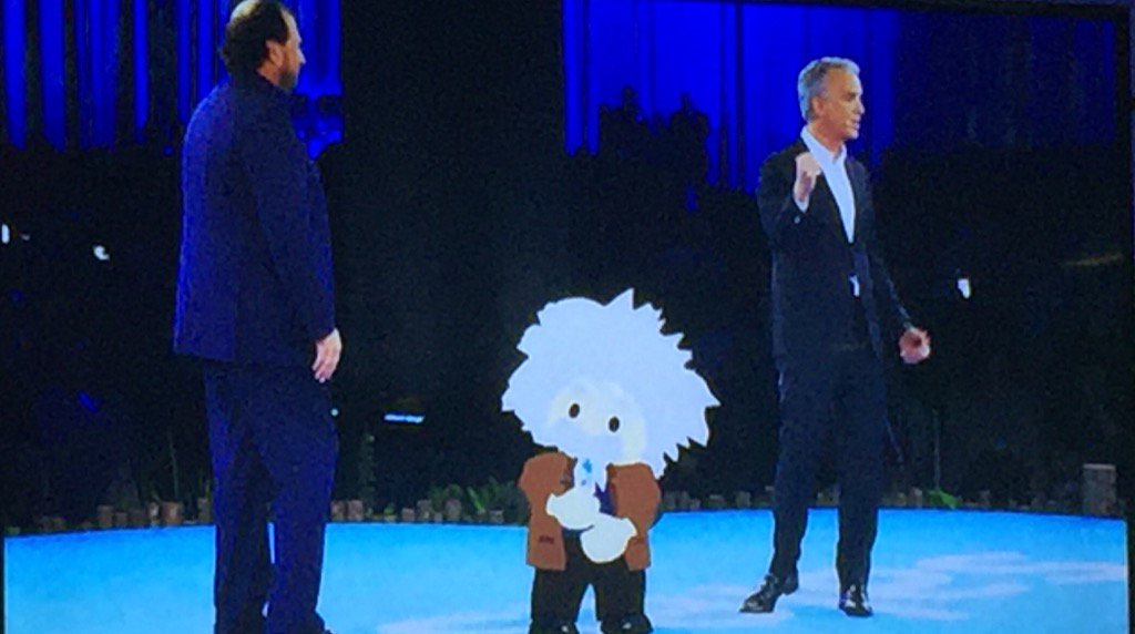 Three extremely bright people on stage at @Dreamforce #DF16 https://t.co/M0XYvWOrLf
