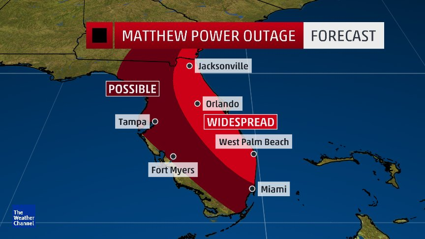 Forecast Power Outage Map For Florida Make Sure To Charge All