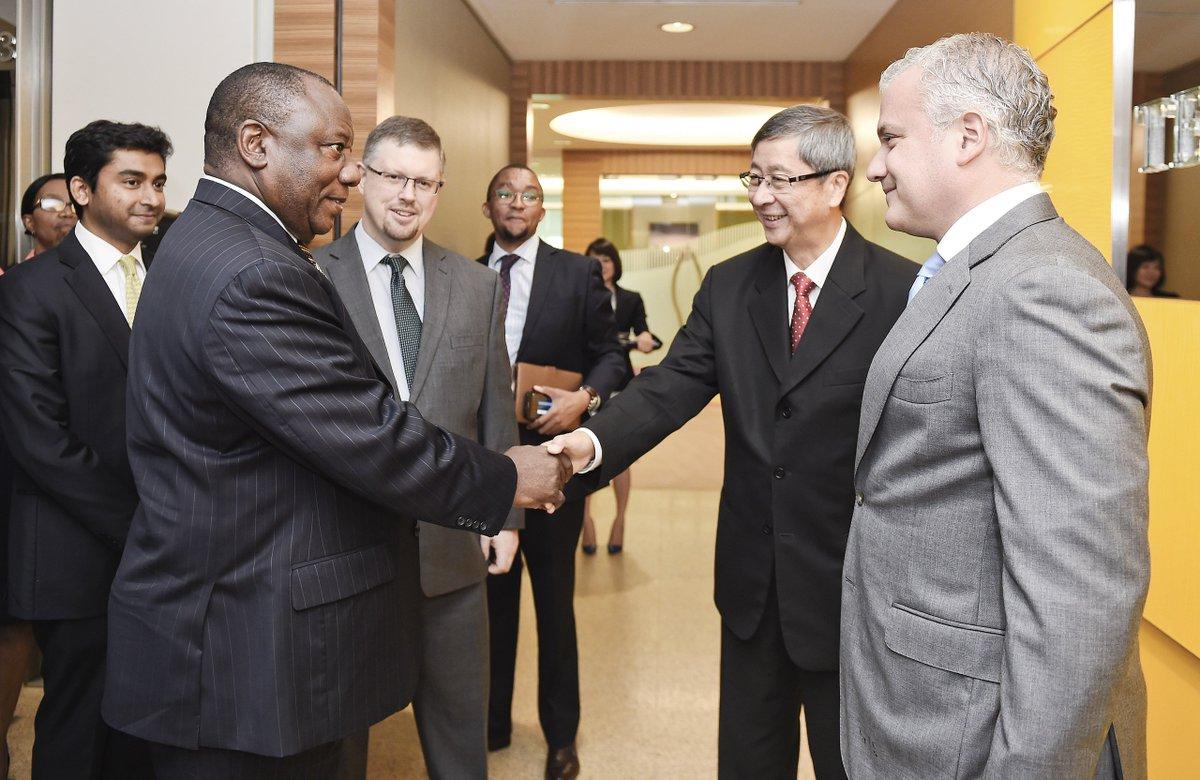 Deputy President Cyril Ramaphosa meeting with the Chairman of TEMASEK Mr Lim Boon Heng, Singapore.