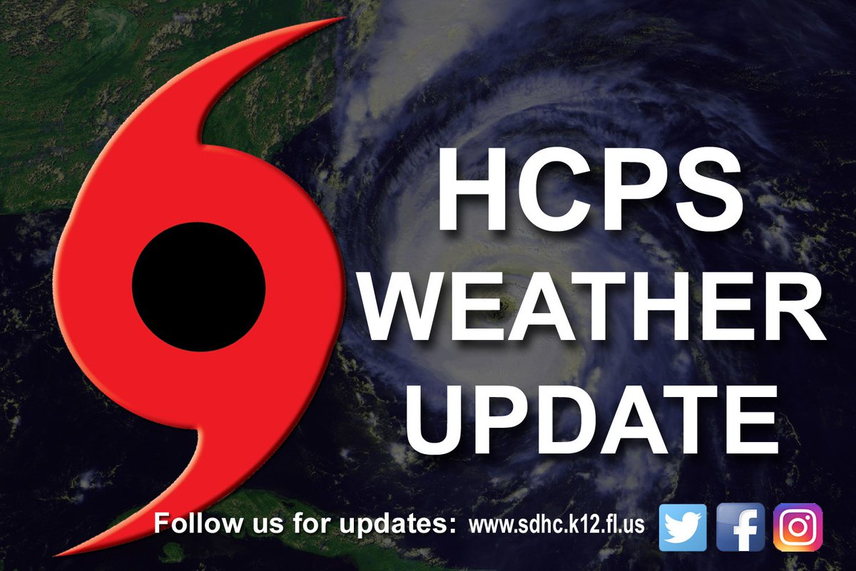 UPDATE (10/6, 8:25AM): A decision on possible HCPS school closures will be made by 1pm TODAY. #RT https://t.co/riUWIEI0uB