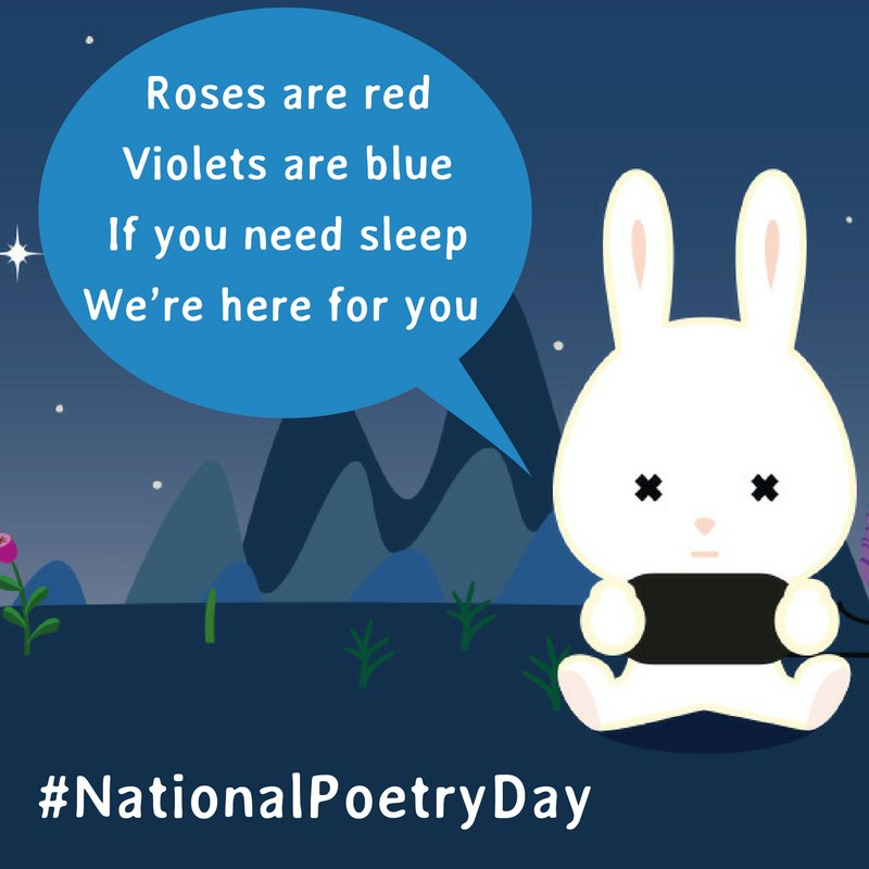 We're poets and we didn't even know it! #NationalPoetryDay https://t.co/iVxWfBiRlJ