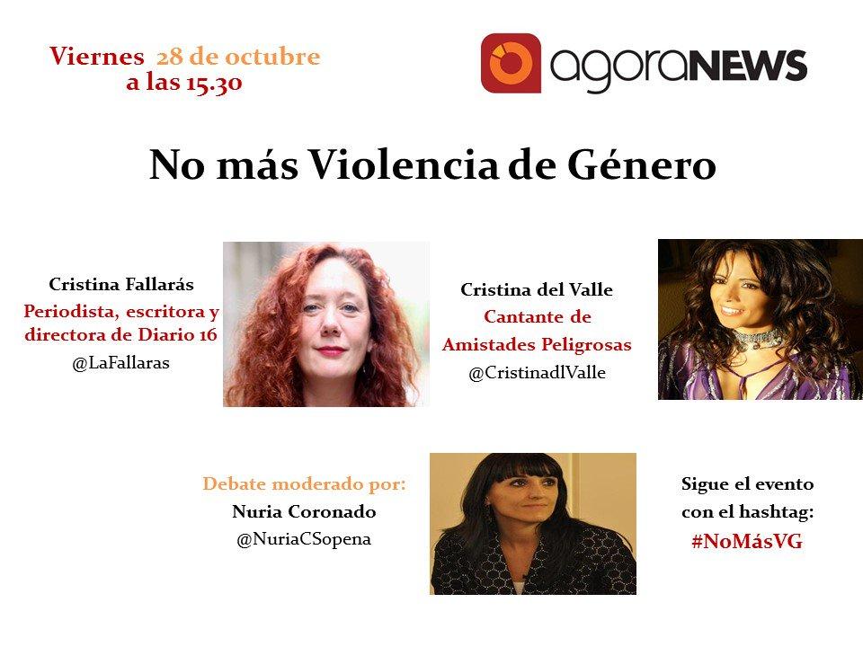 Muy pronto debate sobre la violencia de género con @LaFallaras y @CristinadlValle #NoMásVG  https://t.co/F3fVqPiI26 https://t.co/jmVeZ5s5sF