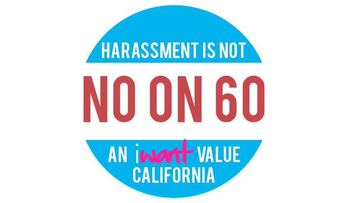 The adult industry needs your help. Vote NO on Prop 60! https://t.co/65UWrMW41c