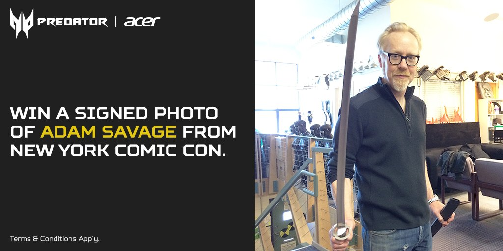All @donttrythis fans: RT for a chance to win a signed photo of Adam #NYCC. T&C: https://t.co/fF0AH7Mnsv #AcerAtNYCC https://t.co/ezPGLibMyF