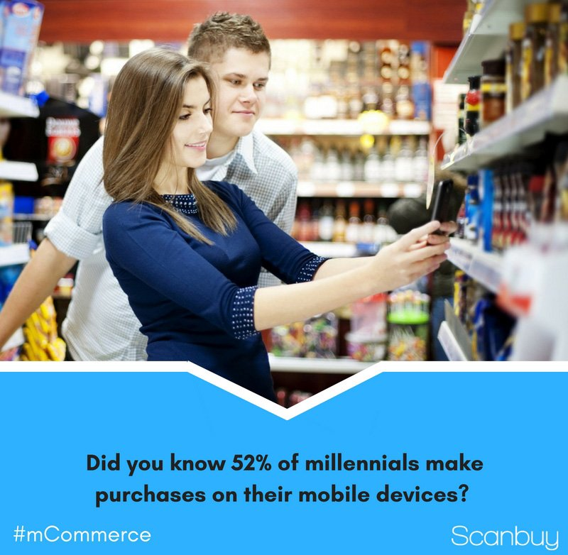 Are you using your #mobile device to make purchases? 52% of millennials are. #mcommerce https://t.co/653ZD3XASC