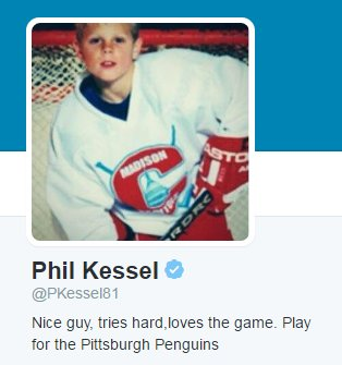 When i\'m feeling sad i go read phil kessel\'s twitter bio - scoopnest.com