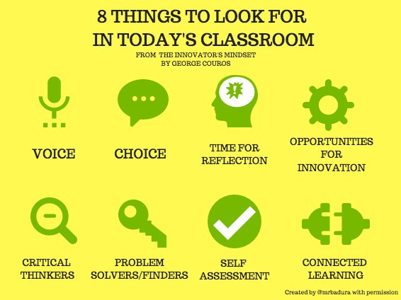 8 Things to Look For in Today's Classroom via @gcouros #edchat #aurorahuskies #education https://t.co/ffYQ7MJzDw