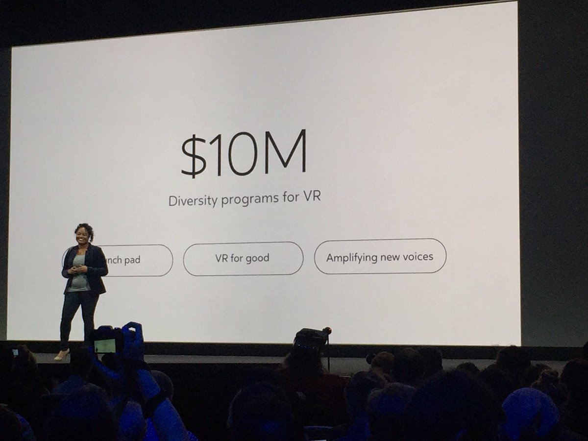 $10M in @oculus funding for diverse VR content. Ebony #OC3 YES! https://t.co/fWvMU04VIO
