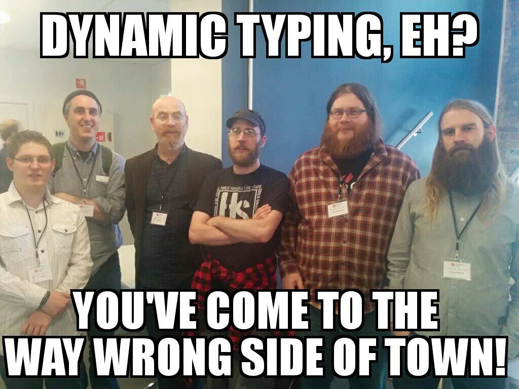 A reminder of what you have to deal with when you use dynamic typing. https://t.co/5CdnSlvcTX