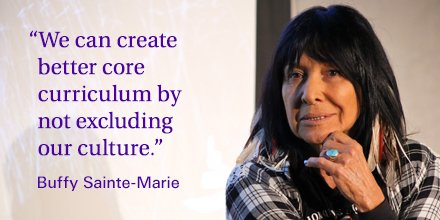 Thanks for a great day of sharing #AtCMHR, @BuffySteMarie, @mbteachers, @NCTR_UM, @MBSchoolBoards, @MBSchoolSupers! https://t.co/MvVAck82mz