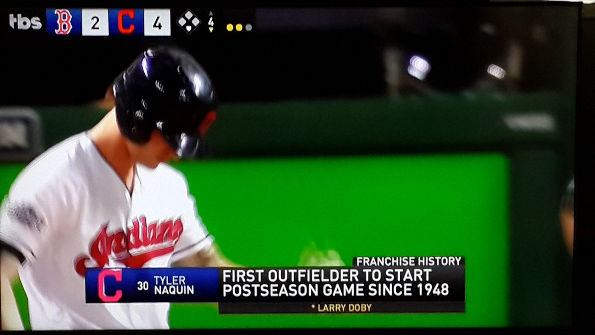 Maybe Indians haven't won World Series in 67 yrs because they haven't started an outfielder in postseason since 1948 https://t.co/wTNnMSGUUh