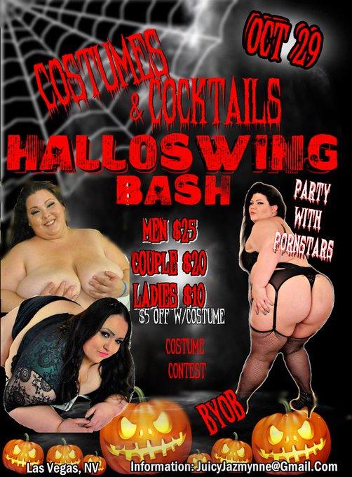 U should be in #LasVegas for #Halloween!!! #BBW Bash in full effect!!! #RT #Vegas #ssbbw #Party https://t