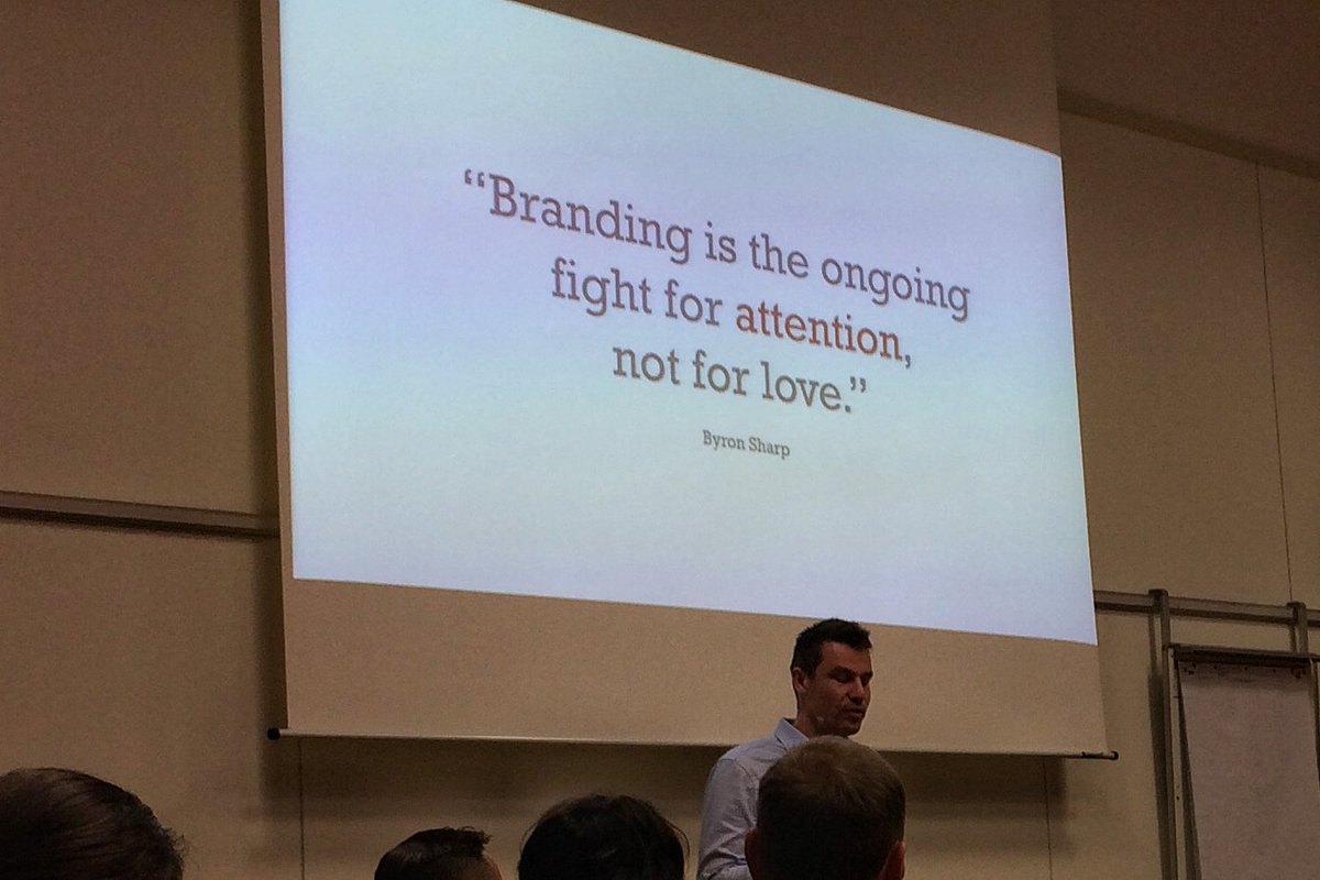 Branding is a fight for attention, not for love. @koenthewissen channels @ProfByron https://t.co/Qjo6Lz5tpp