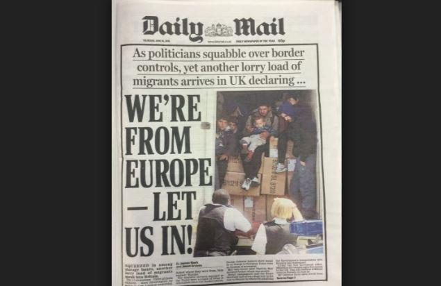 Daily Mail breached Editors' Code with inaccurate WE'RE FROM EUROPE - LET US IN! front page https://t.co/264Et39gIu https://t.co/Sbo7gTqTjh