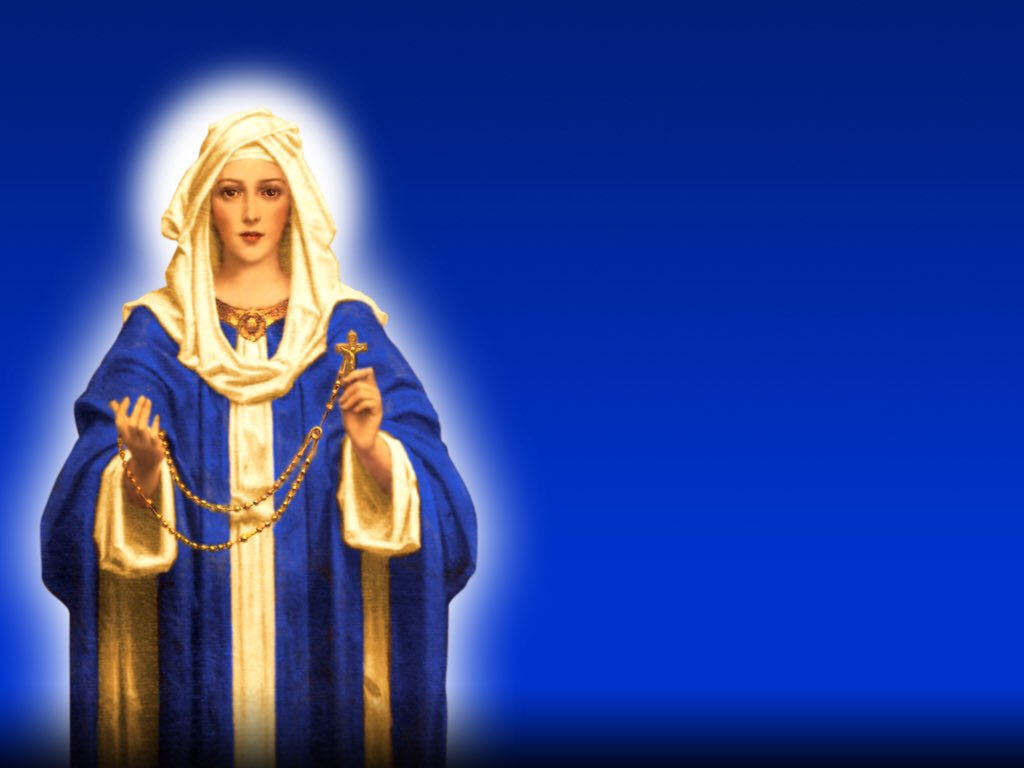 Today is the Feast of Our Lady of the Holy Rosary. Our Lady of the Holy Rosary, pray for us. https://t.co/03eDmXv8Ua