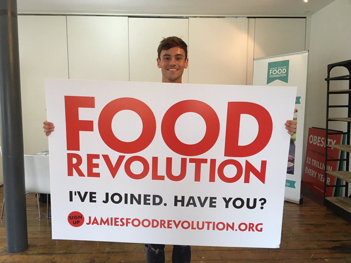 RT @FoodRev: The lovely @tomdaley1994 has joined @jamieoliver's #foodrevolution. Have you? https://t.co/2hoCeHKv7D https://t.co/DCoSQLeb6H