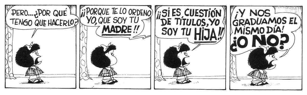 ¡Si es cuestión de títulos, yo soy tu hija! #MafaldaQuotes https://t.co/uEJIdU2IKp