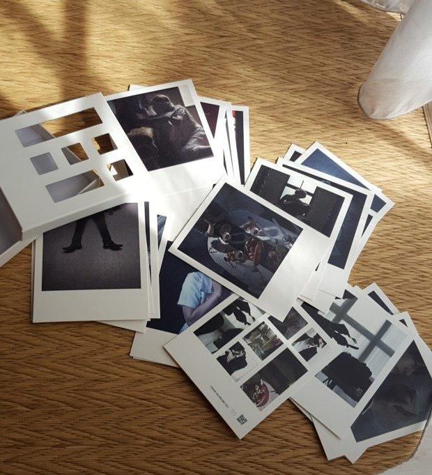 映画オマージュでまとめ印刷しました!本にするよりフォトカードみたいなのにしたよ!未公開カットも入れてます(  ˘ω˘