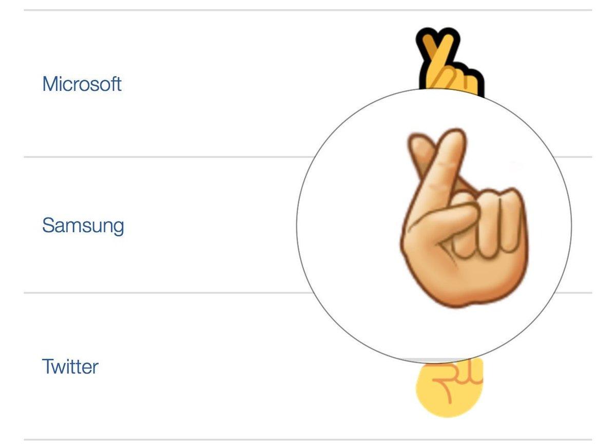 Samsung's Cross Finger emoji has 6 fingers? https://t.co/YAHMrBJ9jB https://t.co/2HSAJVQCC8