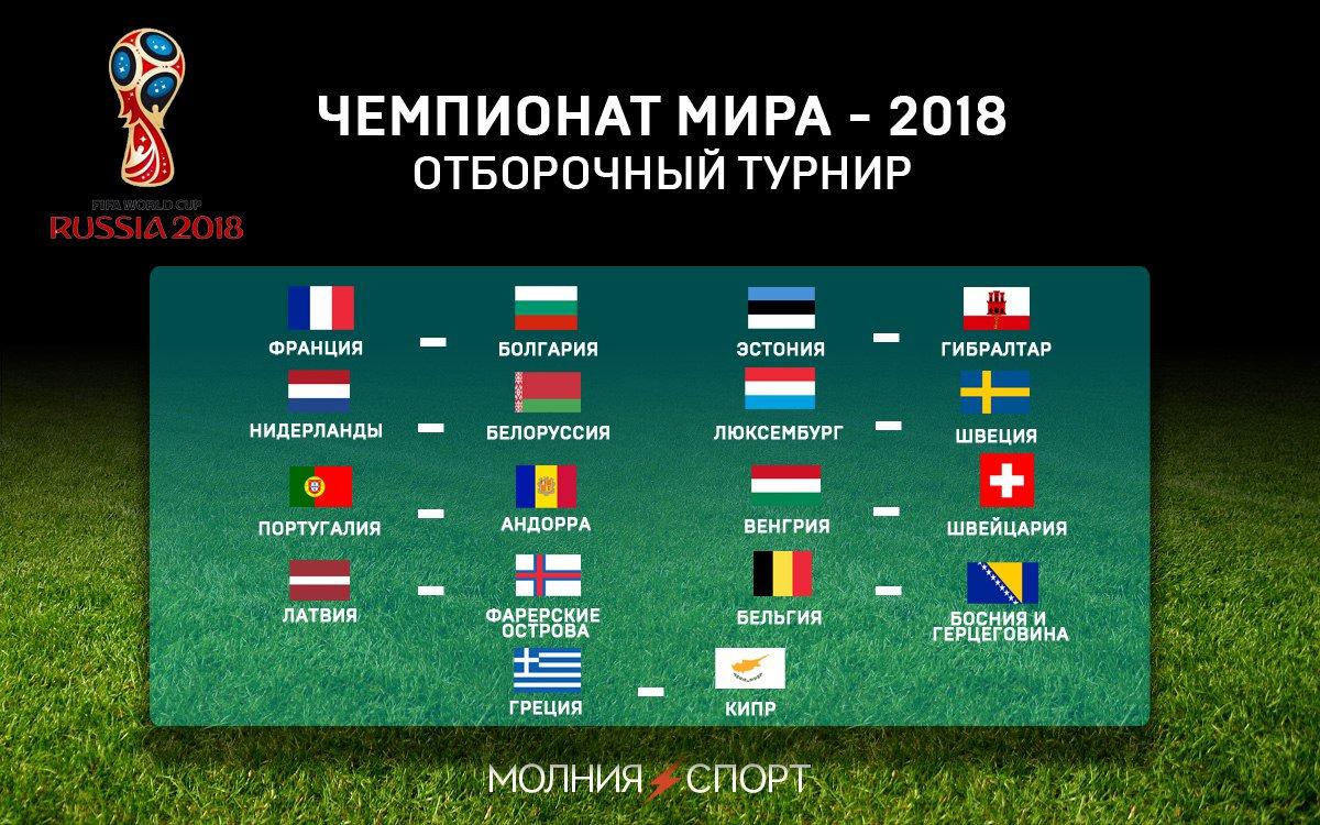 отбор на чемпионат мира 2018 расписание